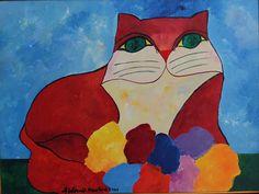 Aldemir Martins (Brazilian, 1922-2006) - Cat, 2000
