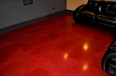 Red Stained concrete