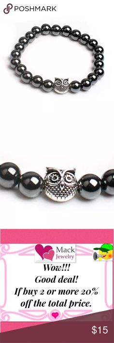 +gift! Energy stone owl bracelet men women beaded 8mm bead, Adjustable (6.5 to 8.5 inches) Material: Magnetic Hematite Great Gift for Him/Her New Trends: Gemstone bracelet becomes a latest trends jewelry 100% Money Back Guarantee;If you are not completely satisfied with our jewelry, simply return it with full refund. Buy absolutely no risk Amount: 1pcs bracelets Accessories Jewelry