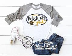 School Pride Shirt School Spirit T-shirt Mascot T-shirt Pride Shirts, Team Shirts, Sports Shirts, School Spirit Wear, School Spirit Shirts, School T Shirts, School Tshirt Designs, Raglan Baseball Tee, We Will Rock You