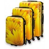 """SUITSUIT Sunflower Hard Shell ABS 3 Piece Luggage Set - 20"""" / 24"""" / 28"""""""