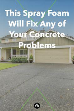 Diy Concrete Driveway, Concrete Bricks, Concrete Driveways, Concrete Floors, Types Of Insulation, Spray Foam Insulation, Brick Projects, Handyman Projects, Diy Home Repair