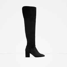 f0e2d03abb2 OVER THE KNEE HIGH HEEL LEATHER BOOTS from Zara Fashion Addict