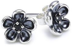 Pandora Damen-Ohrstecker 925 Sterling Silber Zirkonia schwarz 290522CZK
