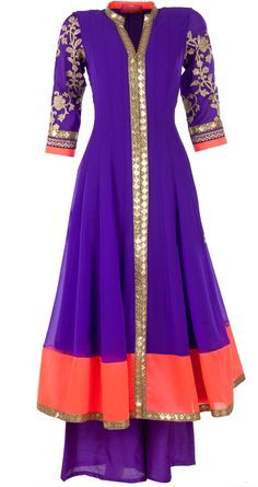 Purple sequinned kurta set available only at Pernia's Pop-Up Shop.