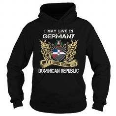 Dominican Republic Germany T Shirts, Hoodies. Get it now ==► https://www.sunfrog.com/LifeStyle/Dominican-Republic-Germany-Black-Hoodie.html?41382