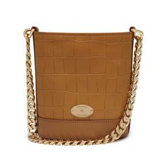 Mini Jamie in Camel Deep Embossed Croc Print | family | Mulberry