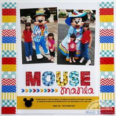 Doodlebug Design Inc Blog: Kraft in Color: Mouse Mania Layout by Mendi