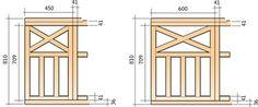 Kryssräcke moduler med måttuppgifter Sun Shade, Facade, Terrace, Porch, Outdoor Structures, Decks, House, Tips, Verandas