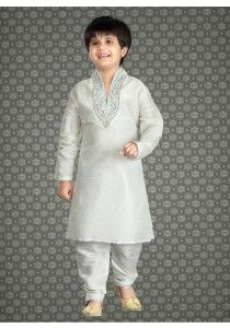 Latest Indian Wedding Wear For Kids In White Color With