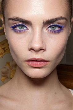 Purple Eyelashes  make-up-is-an-art:    Stella McCartney, Autumn/Winter 2012
