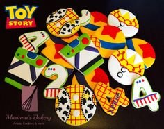 Toy Story decorated sugar cookie favor Toy Story cookies Toy Story Favors ( 3…