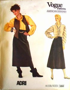 vogue american designer pattern 1054  adri by thewildstrawberries, $17.10