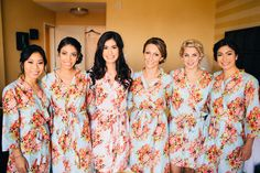 Addison Farms Vineyard - Matching bridesmaids Robes - A.Shore Photography - NC Wedding Planner Orangerie Events