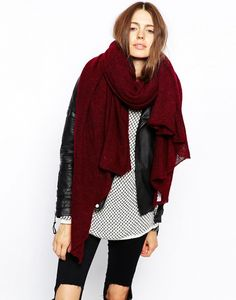 """As oversized garments is popular, a oversized scarf appears in fashion industries. They look gorgeous as well as keep you warm during the cold weather. This website """"who what wear"""" also introduce these types of scarves with the price under $50. This price is pretty cheap if you think about this volume of scarves and design, and you will use a lot during winter season. Mio K"""