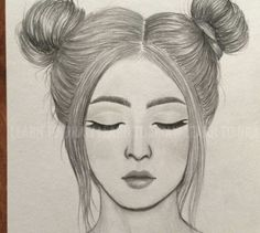 Pencil Sketches Of Girls, Pencil Drawing Images, Pencil Sketch Drawing, Girl Drawing Sketches, Girly Drawings, Art Drawings Sketches Simple, Sketch Drawing For Beginners, Easy Sketches To Draw, Pencil Drawing Inspiration