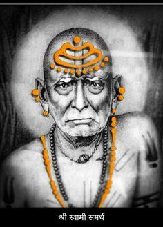 Creative Profile Picture, Swami Samarth, Sai Baba Photos, Kali Goddess, Devotional Quotes, Krishna Art, Gods And Goddesses, Shiva, Festivals