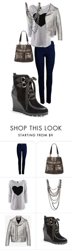 """Going out"" by victoria-murray-1 ❤ liked on Polyvore featuring ONLY, AllSaints, ASOS, Yves Saint Laurent and GUESS"