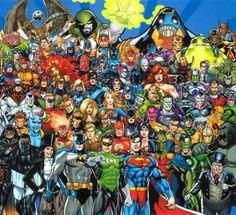 There has been a massive battle going on between fans of two comic publishers for years. Much like the PC vs Console debate, the Marvel Vs. Dc Comic Books, Comic Movies, Comic Book Heroes, Comic Art, Marvel Vs, Avengers Comics, Arte Dc Comics, Dc Universe, Caricatures