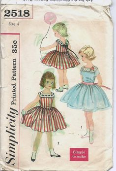Uncut Child Size 4 Vintage 1950s Sewing Pattern by ItsSewVintage