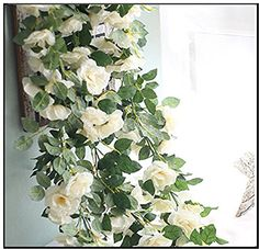 Honeyhome Artificial Greenery White Rose Fake Foliage for... https://www.amazon.ca/dp/B01MSWW398/ref=cm_sw_r_pi_dp_x_Upy7ybS0YYVCA