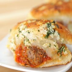 Garlic Bread Meatball Sliders by Tasty