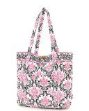 Belvah Quilted Damask Large Tote Bag (Black/ Fuchsia) description This tote bag has a simplistic design. The bag is fashionable and functi. Ipad Bag, Designer Handbags On Sale, Best Handbags, Black Tote Bag, Travel Bags, Damask, Trending Outfits, Reusable Tote Bags, Unique Jewelry