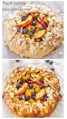 Peach and Blueberry Galette | Jo Cooks