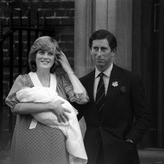 Charles Diana and Prince William leaving hospital