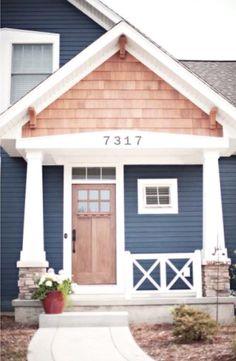 Shake,  blue and wooden door