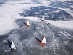 Ice Boats, Lake Monona, Madison, WI