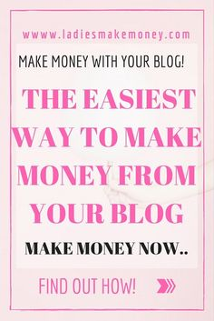 The easiest way to make money from your blog and online Biz. Find out how bloggers are making money online everyday. Earn money online, stay at home moms can make money using their blog