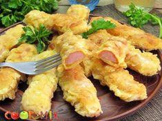 Сосиски жареные в панировке Shrimp, Appetizers, Chicken, Meat, Cooking, Recipes, Food, Kitchen, Appetizer