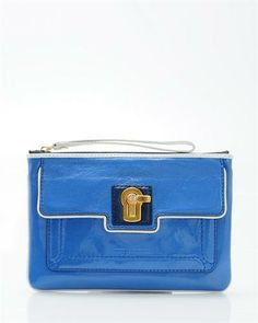 shop for Juicy Couture Patent Turnlock Pouch on leftbankfashions.com