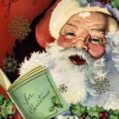 Image detail for -... com: KRW Vintage Santa Claus Christmas Sticker: Arts, Crafts & Sewing