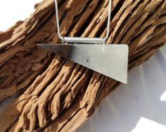 Hout witte epoxy hanger Hars/hout ketting door anneliesjewels
