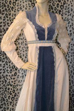 7b80dbc8c1e5 70's Boho Gypsy Gunne Sax Lace ETHEREAL Wedding Gown Corset Dress 9 S/M  Victorian Babydoll Bridal Elvin Rustic Barn BRIDE Hippie Bohemian