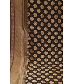 Black Banarasi Handloom Silk Georgette Saree