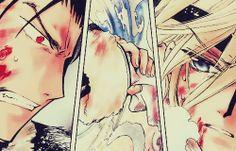 Finale Szene, womit der Kuro Fye Arc und das Charakterdevelopment der beiden meiner Meinung nach zu Ende geht. :D Danach geht es vor allem im Endgame um Sakura und Shaolan. Wenigstens geht das Rumgeangste nach dieser Szene endgültig nicht mehr weiter. Wenn ich Kurogane gewesen wär, wäre ich irgendwann in Band 10 schon völlig entnervt ausgerastet und nicht so ruhig geblieben, während die anderen ihre Angsty-Angst in sich reingefressen haben (v.a. Sakura und Fye). Gut, dass er Ninja ist (oder…