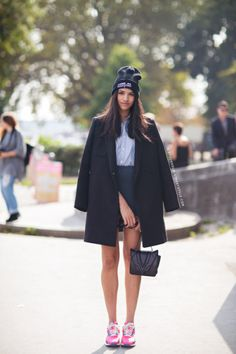 25 Ways to Pull Off Skirts and Sneakers—Without Looking Like an '80s Secretary | StyleCaster