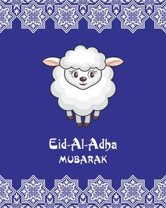 Eid mubarak greeting card eid said eid al fitr eid al adha eid eid al adha greeting card with the image of the sacrificial lamb m4hsunfo