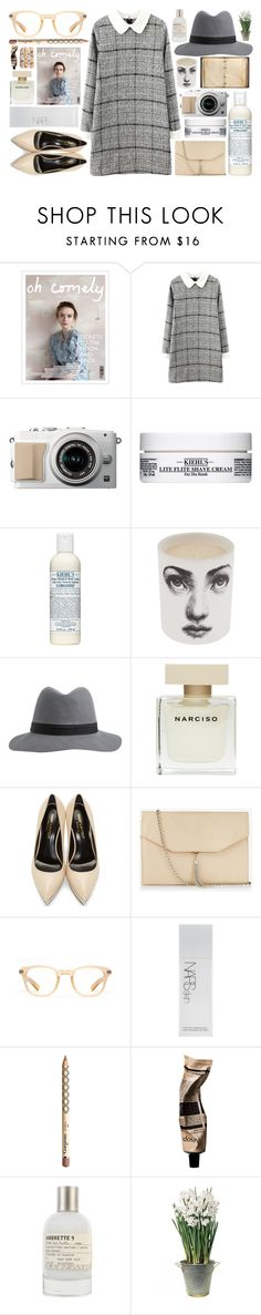 """Hermia"" by brenna-kaye ❤ liked on Polyvore featuring мода, Kiehl's, Fornasetti, Narciso Rodriguez, Yves Saint Laurent, Express, Oliver Peoples, NARS Cosmetics, Gorgeous Cosmetics и Aesop"