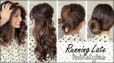 These three easy hairstyles are perfect for when you are running late! Video tutorial