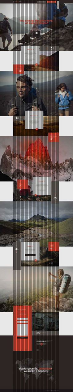 12 grid web design. How to layout a grid for a vertical webpage.