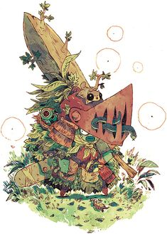 junk gallery | A litte illustration (more a character design) for...
