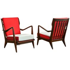 Pair of model no. 516 Lounge Chairs by Gio Ponti, c. 1950s, manufactured by Cassina