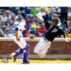 """Starling Marte Pittsburgh Pirates Fanatics Authentic Autographed 16"""" x 20"""" Sliding Home Photograph - $69.99"""