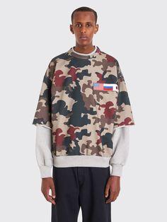 e8bee258c6a Très Bien - Gosha Rubchinskiy Double Sleeve Sweatshirt Camo