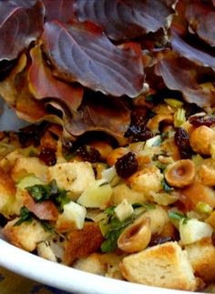 Bread Stuffing with Figs and Hazelnuts. The best stuffing you can make!