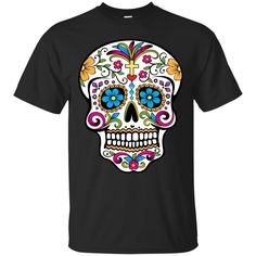 Cross Sugar Skull Shirt